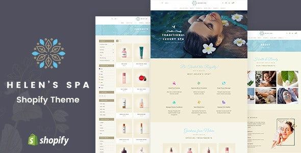 Helen's Spa - Sectioned Shopify Theme - Health & Beauty Shopify