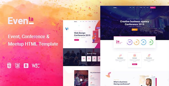 Eventa - Conference & Event HTML Template nulled theme download