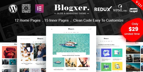 Blogxer - Blog & Magazine WordPress Theme - Personal Blog / Magazine