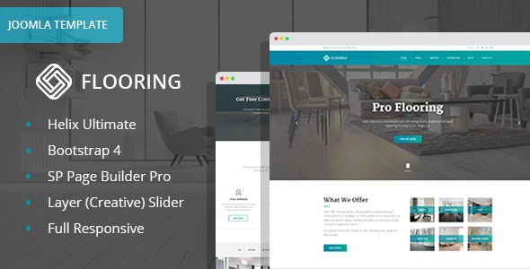 Flooring - Floor Repair / Refinish Joomla Website Template with Page Builder - Business Corporate