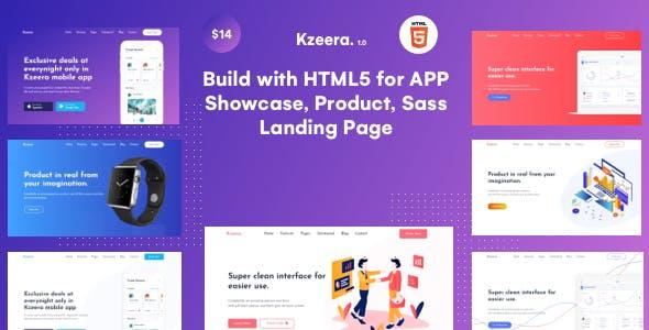 Kzeera -  App Landing page & Sass HTML5 Template