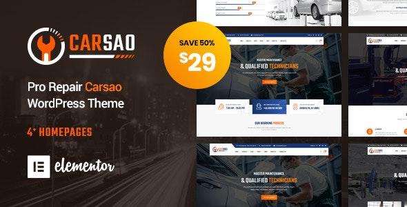 Carsao - Responsive Car Service WordPress Theme - Business Corporate