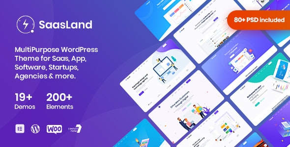 SaasLand - MultiPurpose WordPress Theme for Saas & Startup - Software Technology