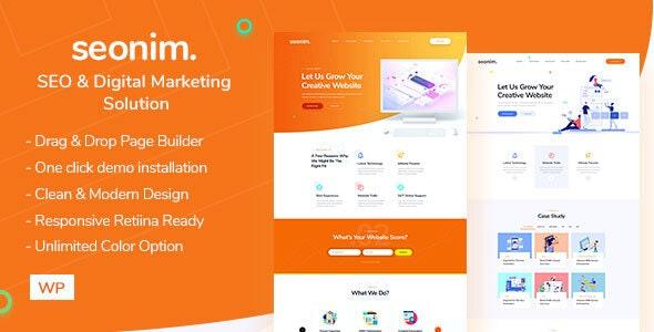 Seonim - Digital Marketing Agency WordPress Theme - Marketing Corporate