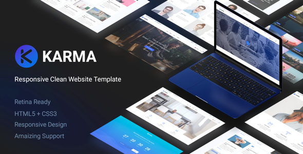 Karma - Responsive Clean Website Template - Corporate Site Templates