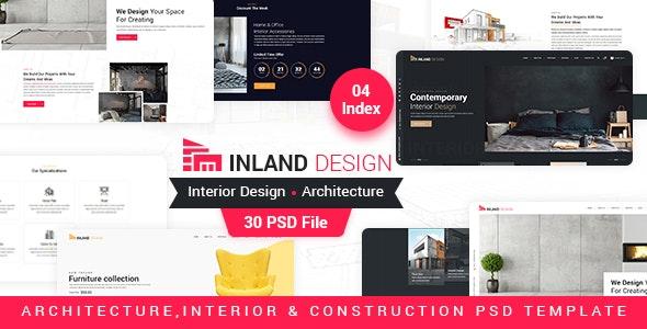 Inland - Interior Design PSD Template - Business Corporate