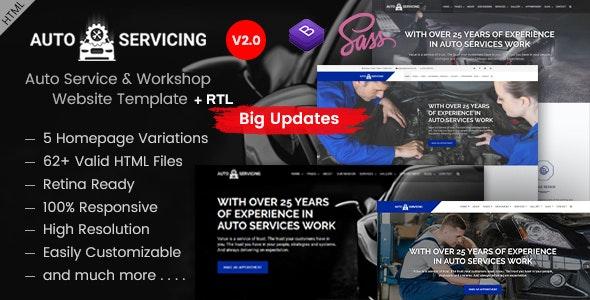 AutoServicing - Garage & Workshop HTML Template - Business Corporate