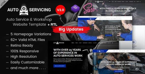 AutoServicing - Garage & Workshop HTML Template