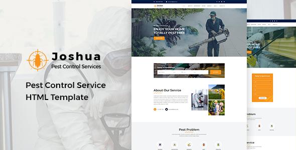 Joshua - Pest Control Service HTML Template - Business Corporate