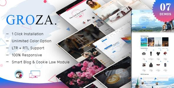 Groza - Multipurpose Prestashop Responsive Theme - Shopping PrestaShop