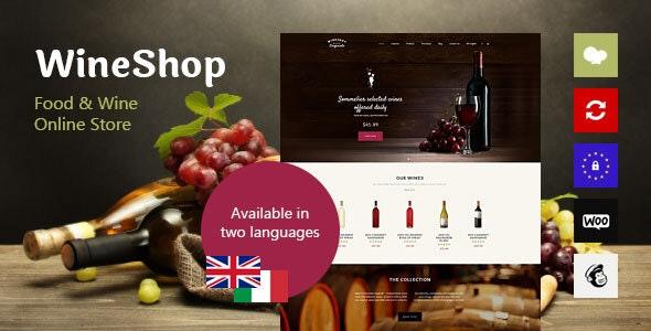 WineShop - Food & Wine Online Store WordPress Theme - WooCommerce eCommerce