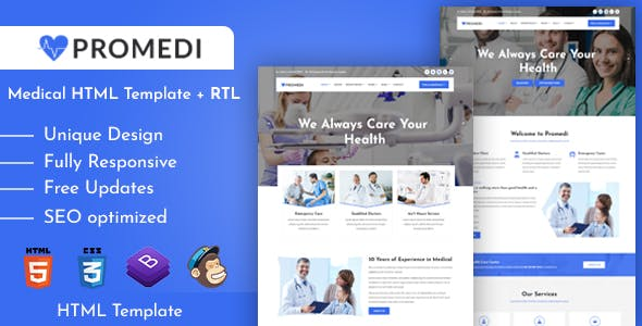 ProMedi - Medical Services and Doctors Clinic HTML Template