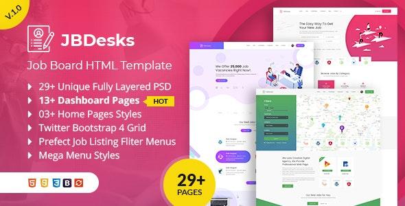 JBDesks - Job Board HTML5 Template - Business Corporate