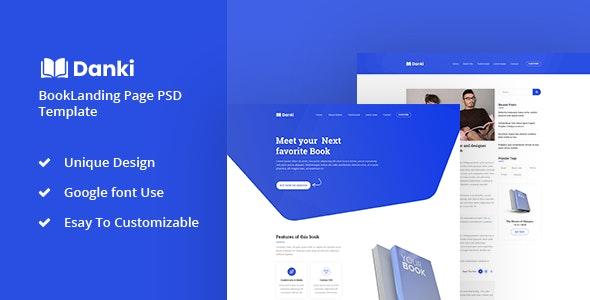 Danki - Book Landing Page PSD Template - Marketing Corporate