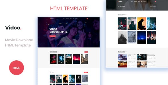 Vidco - Digital Content Download HTML Template nulled theme download