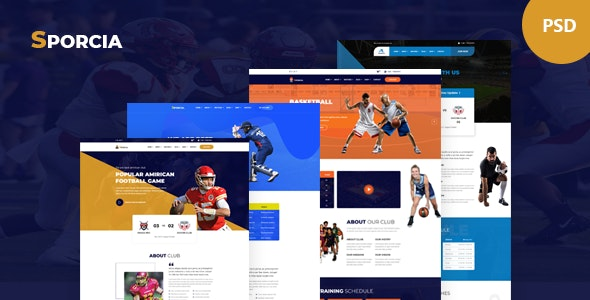 Sporcia - Sports & Sports Club PSD Template - Events Entertainment