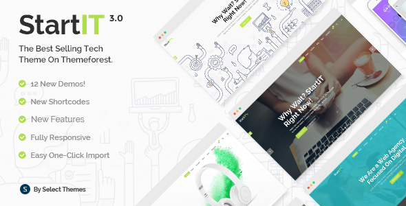 Startit - Fresh Startup Business Theme - Technology WordPress