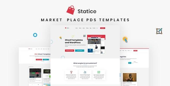 Statice - Product Marketplace PSD Template - Corporate PSD Templates