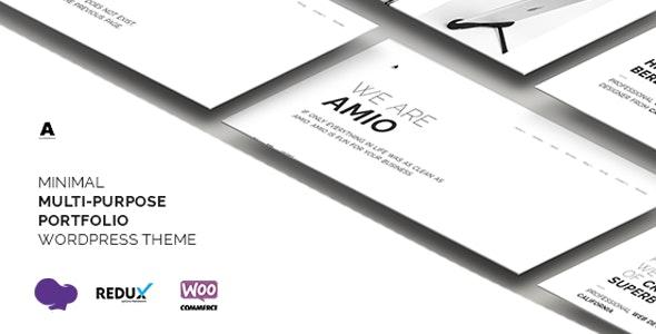 Amio – Minimal Multi-Purpose Portfolio WordPress Theme - Portfolio Creative