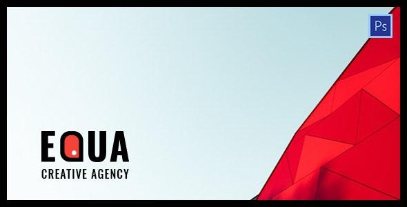 Equa - Digital Agency PSD Template - Portfolio Creative