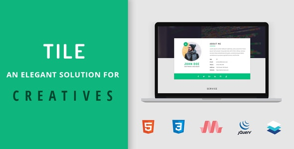 Tile - Resume/CV/vCard/Portfolio HTML Template - Resume / CV Specialty Pages
