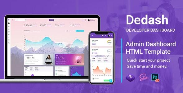 Dedash - Multipurpose Developer Dashboard HTML Template - Admin Templates Site Templates