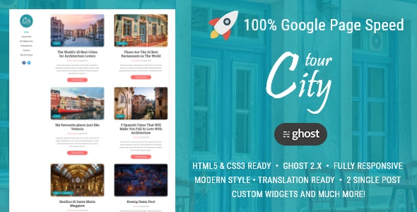 CityTour - Modern Blog for Ghost - Ghost Themes Blogging