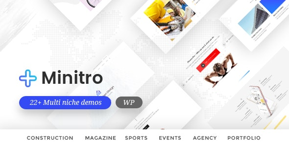 Minitro – Responsive Multi-Purpose HTML Template - Corporate Site Templates
