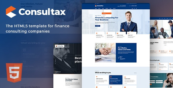 Consultax - Financial & Consulting HTML5 Template - Business Corporate