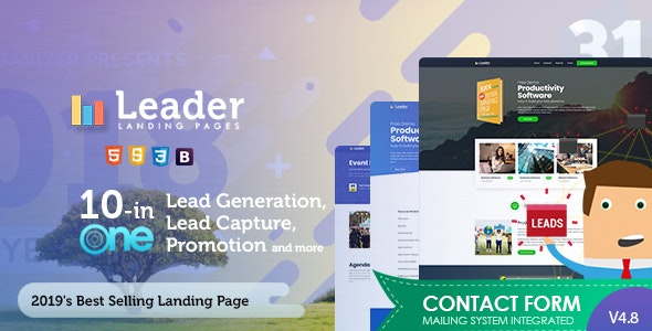 Landing Page Template - Leader - Marketing Corporate