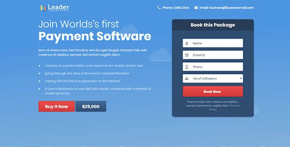 Landing Page Template - Leader
