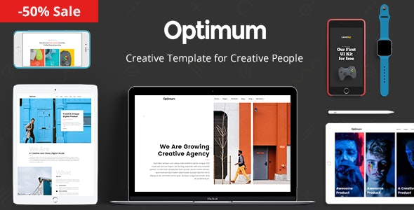 Optimum - Template for Creative People - Portfolio Creative
