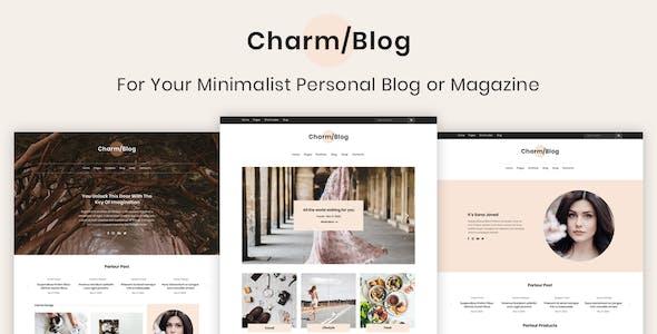 Charm - Minimalist Personal Blog & Magazine Template
