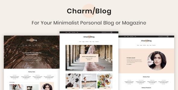 Charm - Minimalist Personal Blog & Magazine PSD Template - Photoshop UI Templates