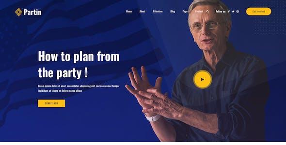 Partin - Political PSD Template