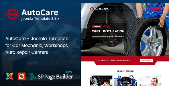 Mechanic HUB - Car Repair Joomla Template - 1