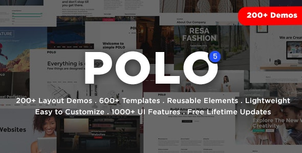 Polo - Responsive Multi-Purpose HTML5 Template by inspiromedia