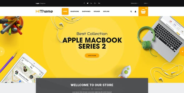 HiTheme - Digital Store & Fashion Shop WordPress WooCommerce Theme (Mobile Layout Ready)