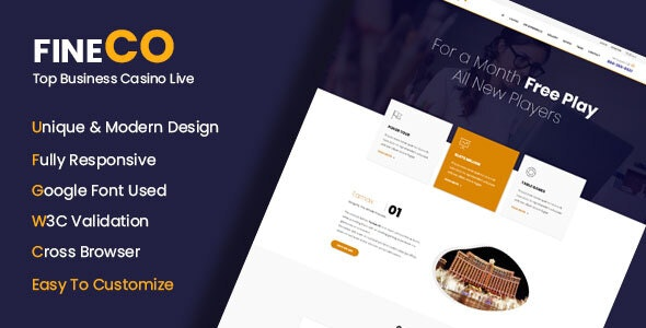 Fineco - Corporate Business Template - Corporate Site Templates