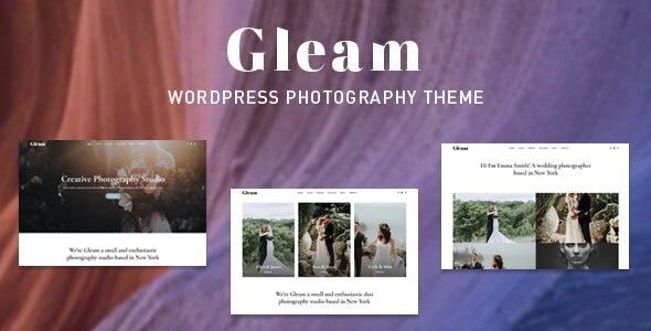 Gleam - Portfolio Photography WordPress Theme - Photography Creative