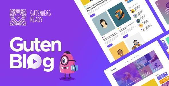 Gutenblog - Modern Blog WordPress Theme - Personal Blog / Magazine