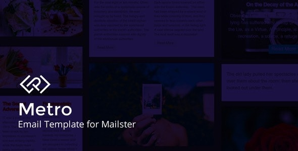 Metro - Email Template for Mailster - Newsletters Email Templates