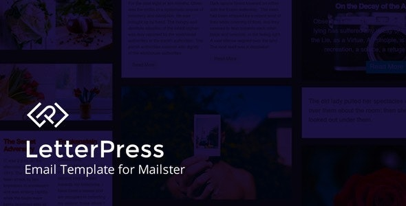LetterPress - Email Template for Mailster - Newsletters Email Templates