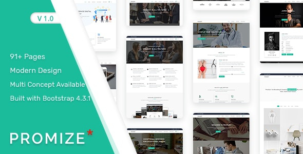 Promize - A Responsive Multipurpose Template - Corporate Site Templates