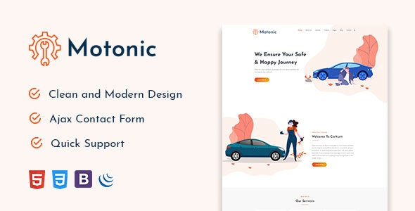 Motonic -  Car Service and Car Repair HTML5 Template - Business Corporate