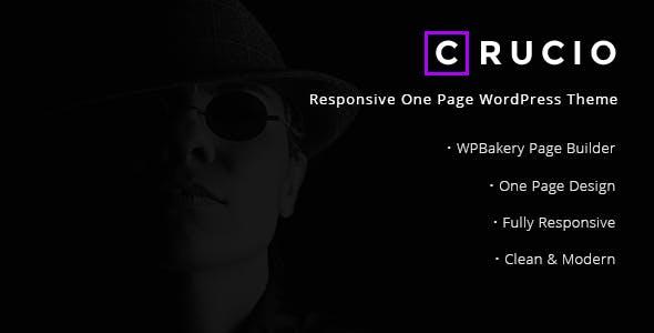 Crucio - Responsive One Page WordPress Theme