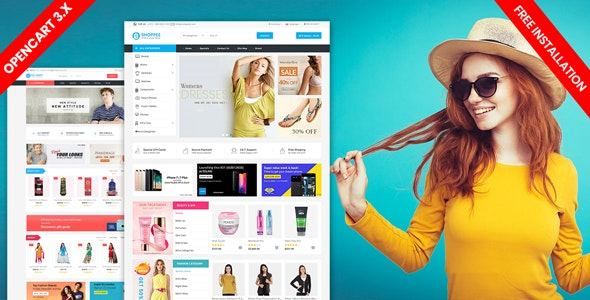 Shoppee OpenCart 3.X electronic Fashion shoes toys Theme - Shopping OpenCart