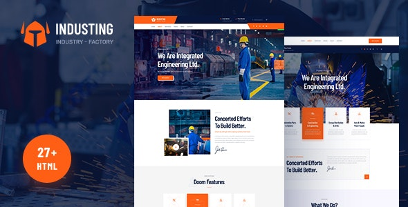 Industing - Industry & Factory Business HTML5 Template - Business Corporate