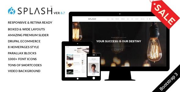 Splash - Multi-Purpose Bootstrap Drupal 8.9 Theme - Creative Drupal