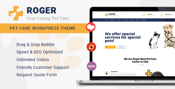 Roger - Pet Care WordPress Theme - Business Corporate